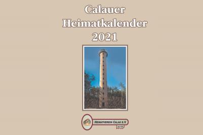 Der Aussichtsturm in der Calauer Schweiz ziert das Titelblatt für den Heimatkalender 2021. Grafik: Heimatverein