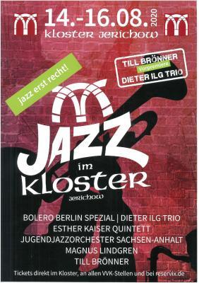 Vorschaubild zur Meldung: 14.-16. August: JAZZ im KLOSTER - jazz erst recht!
