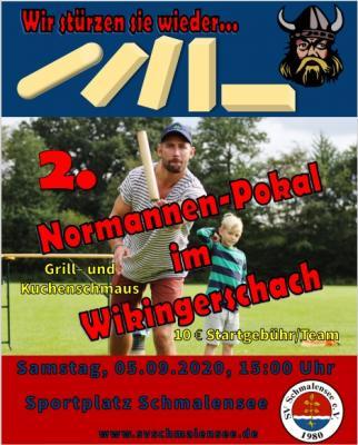 Foto zur Meldung: Keep on kubbing – 2. Normannenpokal im Wikingerschach am 5. September beim SV Schmalensee