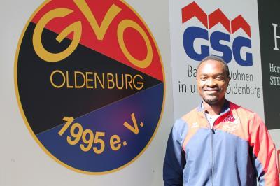 Spielertrainer Hyacinthe Mokom Fomboh