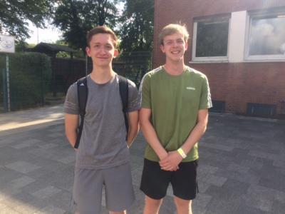 Niklas und Matthias bei Beginn der Ausbildung