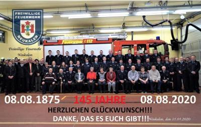 Foto zur Meldung: 145 Jahre Freiwilligen Feuerwehr Neukalen