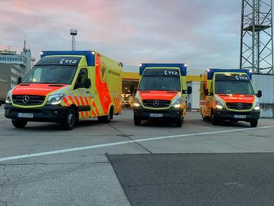 Foto zur Meldung: Neue Generation Rettungswagen in Dienst gestellt