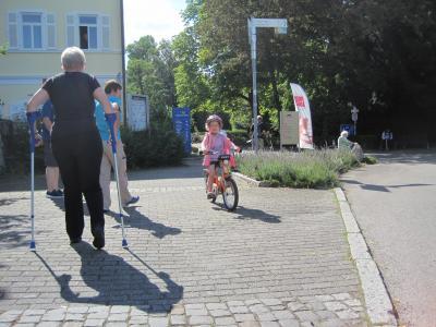 Gemma als jüngstes Teammitglied hat 68 km geschafft und damit einen Sonderpreis gewonnen
