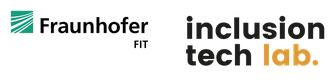 Logos Fraunhofer FIN + inclusion tech lab.