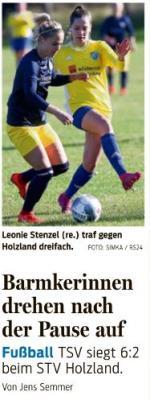 Foto zur Meldung: Frauen STV Holzland gegen TSV Barmke