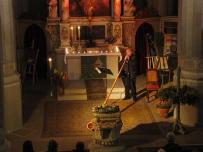 Foto zur Meldung: Orgelvesper für Alphorn und Orgel