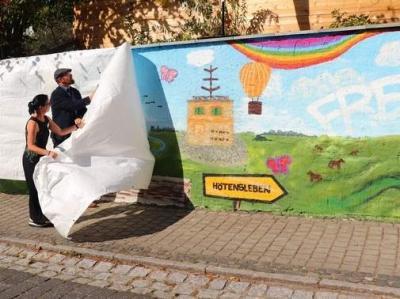 Vorschaubild zur Meldung: Größtes Wandgraffito des Landes