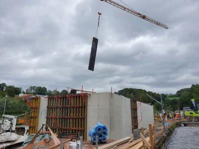Vorschaubild zur Meldung: Neubau der Kläranlage Poppenhausen im Zeitplan