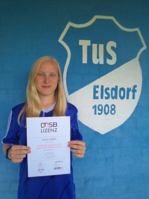 Vorschaubild zur Meldung: Neue B-Lizenz für den TuS Elsdorf!