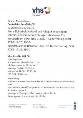 Infos zum Deutschkurs