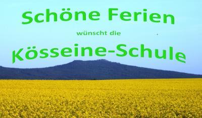 Foto zur Meldung: Schöne Ferien wünscht die Kösseine-Schule