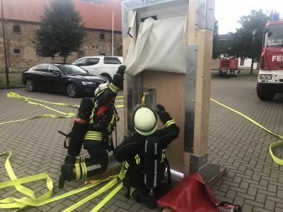 Vorschaubild zur Meldung: Trupptraining für die Brandbekämpfung