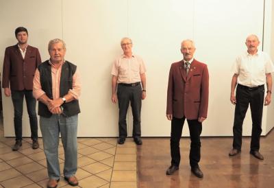 v.l.n.r. Christoph Aigner, Xaver Wintersberger, Johann Huber, Herbert Müller, Anton Gandl