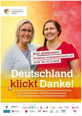 Vorschaubild zur Meldung: Aufruf zur Abstimmung über den Publikumspreis des Deutschen Engagementpreises 2020