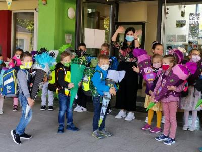 Vorschaubild zur Meldung: Schulanfang 2020/21 an der Grundschule Hollstadt-Wollbach