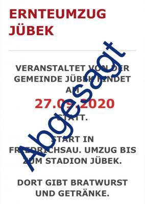 Vorschaubild zur Meldung: Ernteumzug Jübek - Abgesagt