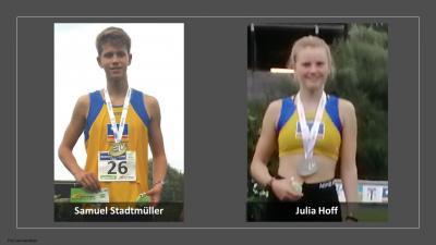 Mit 2 Goldmedalien, 1 Silber und 1 Bronze bei den Bayerische Meisterschaften U23/U16 in Erding vom 05.-06.09.2020