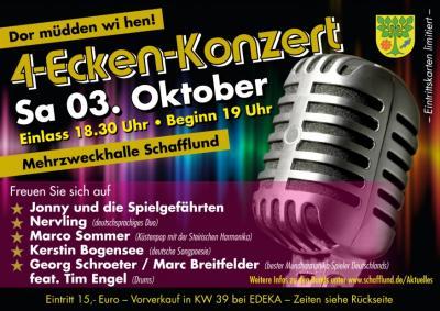 Foto zur Meldung: 4-Ecken-Konzert in Schafflund