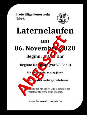 Foto zur Meldung: Laterne laufen Jübek 06.11.2020 - Abgesagt