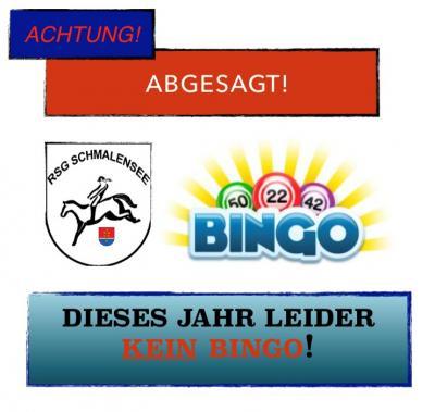 Absage RSG-Bingo 2020