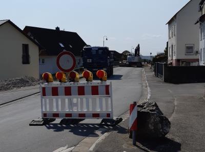 Bauarbeiten mit Vollsperrung  Miehlener-Straße