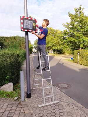 """Foto zur Meldung: Tempo 30 auf Gemeindestraßen - Messgerät """"erinnert"""""""