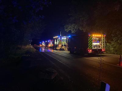 Foto zur Meldung: Waldbrand in der Dellbrücker Heide