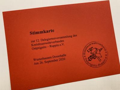 Vorschaubild zur Meldung: Delegiertenversammlung des Kreisfeuerwehrverbands Ostprignitz-Ruppin e.V.
