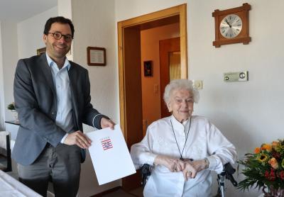 Vorschaubild zur Meldung: 100. Geburtstag Erika Feußner