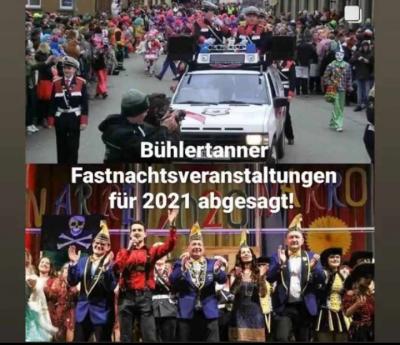 Absage Bühlertanner Fastnacht 2021 – Wir freuen uns auf die Kampagne 2022
