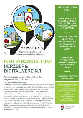 Foto zur Meldung: Info-Veranstaltung Digital.Verein.t am 08.10.2020