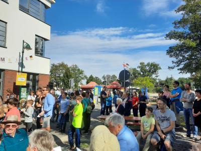 Foto zur Meldung: Rangsdorfer*innen feierten mit Kulturmeile die Wiedervereinigung