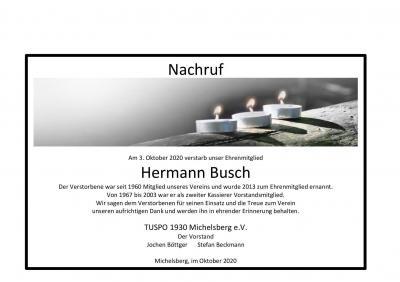 Nachruf Hermann Busch