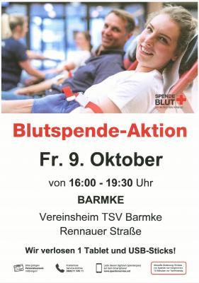 Foto zur Meldung: Blutspende des DRK Barmke beim TSV Barmke