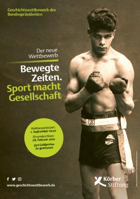 """Vorschaubild der Meldung: Geschichtswettbewerb des Bundespräsidenten """"Bewegte Zeiten. Sport macht Gesellschaft."""""""