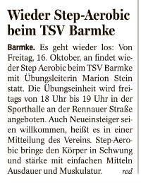 Foto zur Meldung: Wieder Step Aerobic beim TSV Barmke
