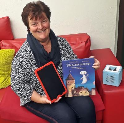 Bibliotheksleiterin Silka Laue freut sich auf viele Besucher in den zwei Aktionswochen.
