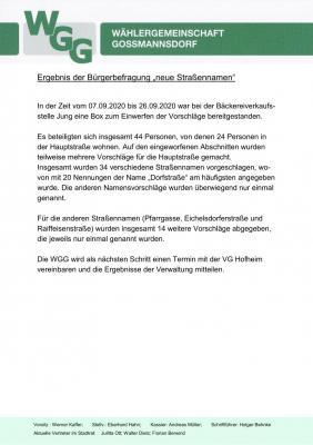 """Vorschaubild zur Meldung: Ergebnis der Bürgerbefragung """"Neue Straßennamen"""""""