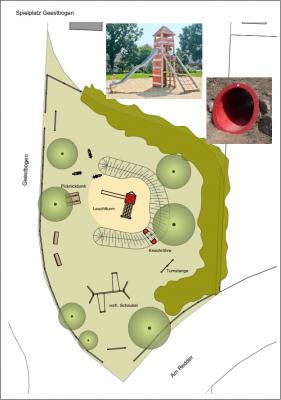 Vorschaubild zur Meldung: Spielplatz Am Redder/Geestbogen bald fertig!