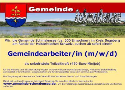 Vorschaubild zur Meldung: Minijob: Schmalensee sucht Allrounder mit handwerklichem und technischem Geschick