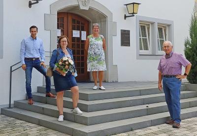v.l.:BM Arman Aigner, Monika Paulus, Irmgard Walentin, Heinz Unglert