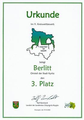 Foto zu Meldung: Unser Dorf hat Zukunft! Berlitt belegt den 3. Platz