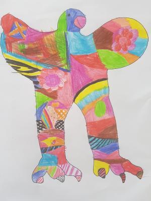 Vorschaubild zur Meldung: Kunstprojekt der 2b_Niki de Saint Phalle