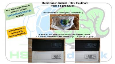 Vorschaubild zur Meldung: Mund-Nasen-Schutz - HSG Heidmark