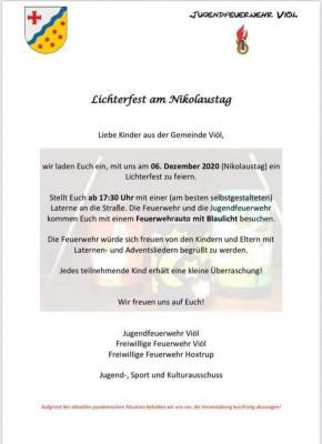 Jugendfeuerwehr: Lichterfest am Nikolaustag