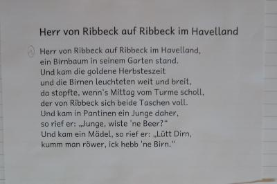 Foto zur Meldung: Klasse 4a: Herr von Ribbeck auf Ribbeck im Havelland