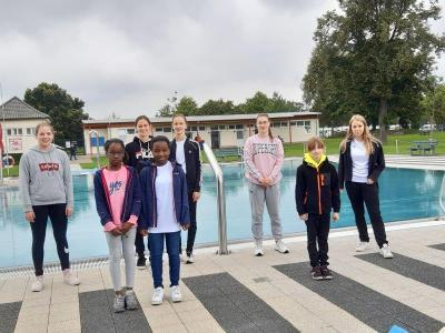 Die MTV-Schwimmer beim Wettkampf in Holzminden am 05. September 2020