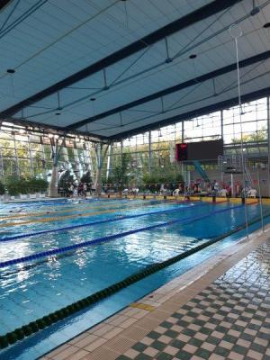 Das Sportbad Heidberg in Braunschweig, der letzte Wettkampf in 2020 (10. Oktober)