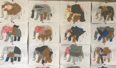 Foto zur Meldung: Elo Elefant und die Zauberhand – ein Projekt mit den Klassen 1a und 1b